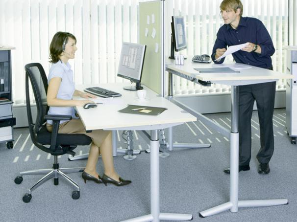 Ergonomische Möbel im Büro